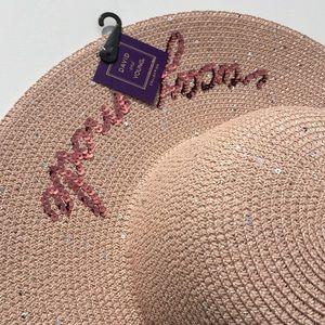 """David   Young Accessories - NWTs David   Young """"Vacay Mode"""" Sequin Hat 557d59f8d90d"""